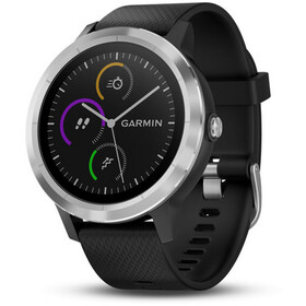 Garmin vívoactive 3 GPS Sport Watch With black silicone strap edelstahl